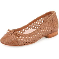 eb2d0f7bb74 Taryn Rose Bobo Woven Leather Flat ( 165) via Polyvore featuring shoes