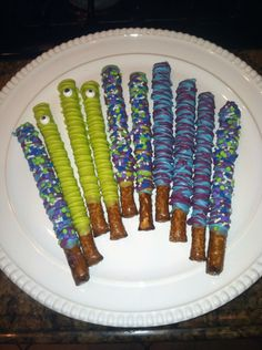 Monsters inc . Themed pretzels
