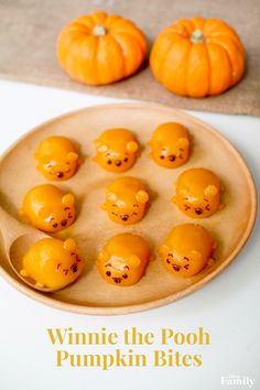 Do you have a rumbly in your tumbly? Fill it with something good to eat! These Winnie the Pooh Pumpkin Bites are inspired by Tsum Tsum and are almost too cute to snack on. Click for the Winnie the Pooh recipe.