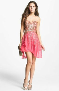 Sherri Hill Embellished Sweetheart Silk Chiffon Dress (Online Exclusive)   Nordstrom - Fashion Events - chic-finder.com - 1072960