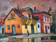 """Saatchi Art is pleased to offer the painting, """"old house in Vatra Dornei,"""" by david croitor. Original Painting: Oil on N/A. Size is 0 H x 0 W x 0 in. Unique Paintings, Original Paintings, House Painting, Painting & Drawing, Painting Collage, American Realism, Oil Painters, Illustrations, Oeuvre D'art"""