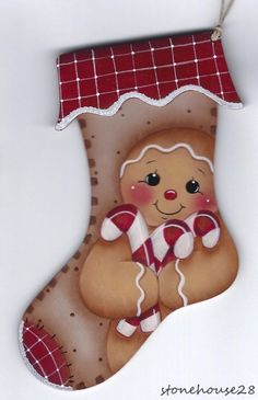 HP GINGERBREAD Stocking ORNAMENT