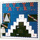 What'S the pattern by brooke markle subject: grade math topic: number patterns & pascal's triangle Math Bulletin Boards, Interactive Bulletin Boards, Math Boards, Math Classroom, Kindergarten Math, Teaching Math, Classroom Decor, Teaching Ideas, Elementary Science