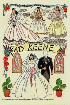 Katy Keene Wedding Gown Pin-Ups* 1500 free paper dolls The International Paper Doll Society Twitter #QuanYin5 Arielle Gabriel artist *