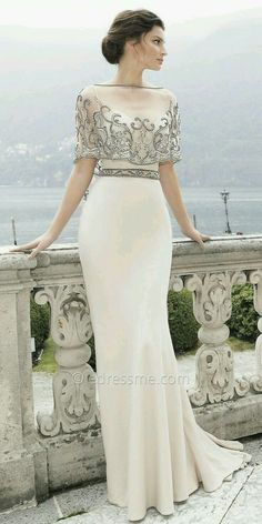 Nurcan Kacira Elegant Evening Dresses, Evening Dresses For Weddings, Simple Elegant Dresses, Glamorous Evening Dresses, Elegant Gown, Wedding Gowns, Unique Dresses, Party Wedding, Pretty Dresses