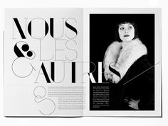 Elegant Magazine Layout / beautiful typography ♥