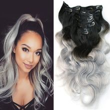 120g Weft Body Wave Clip In Hair Extensions Human Virgin Brazilian Hair Clip In Human Hair Extensions Slove Rosa Products DHL(China (Mainland))
