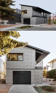 Tin Roof House, House Siding, Garage House, Black Metal Roof, Mountain Home Exterior, Cottage Exterior, Modern Shed, Modern Houses, Small Houses