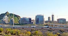 Tempe Skyline as seen from Papago Park. Photo by Nick (Wikipedia user Schwnj)