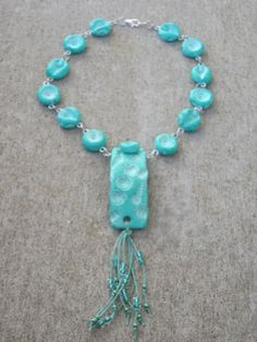 Boho Chic Mermaids RockTurquoise Faux Ceramic Polymer by blessen, $38.00