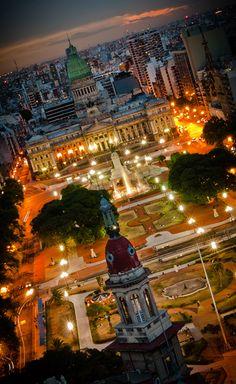 "View of Congreso from the Palacio Barolo building, inspired by Dante Alighieri's ""Divine Comedy"" - Buenos Aires, Argentina"