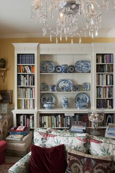 blue & white collection | former vicarage, now private home to Noel Thompson |  Hailsham, East Sussex, UK
