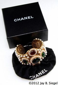 Outstanding vintage CHANEL cuff bracelet from the - Chanel Red - Ideas of Chanel Red - .Outstanding vintage CHANEL cuff bracelet from the Chanel Jewelry, Jewelery, Fashion Jewelry, Chanel Cuff Bracelet, Cuff Bracelets, Bijou Box, Mode Chanel, Chanel Chanel, Cheap Jewelry