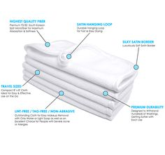 Microfiber White Ultra Fluffy 8 x 8 Terry Facial Cloth - $2.65 | The Rag Company. The absolute best for first cleanse face PM routine. So soft an gentle and hold up extremely well.