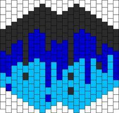 Black And Blue Drip Mask Bead Pattern Kandi Mask Patterns, Pony Bead Patterns, Beading Patterns Free, Peyote Patterns, Pony Bead Projects, Pony Bead Crafts, Rave Candy, Rave Mask, Kandi Bracelets