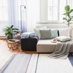 #urbanara #homewares #design #quality #blue #mint #cushions #rug #home #livingroom