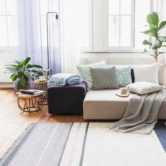 #urbanara #homewares #design #quality #blue #mint #cushions #rug #home #livingroom