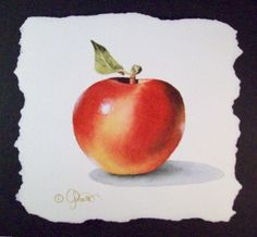 Red Apple, painting by artist Jacqueline Gnott