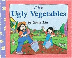 """All the neighbors are growing lovely flowers but our main character's mom is growing some very strange, very ugly things in their garden. All is made right when the """"ugly vegetables"""" make a very tasty soup. A great book about gardening and variety being the spice of life. (A recipe is included with the story. I love when authors do that!)"""