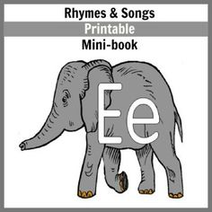 Letter E: Rhymes & Songs mini-book
