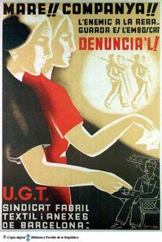 Mare!! companya!! : l'enemic a la reraguarda és l'emboscat, denúncia'l! (Cartells del Pavelló de la República - Universitat de Barcelona)