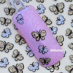 3D Butterfly Nail Art Shinning Stickers DIY by HighClassNailsss