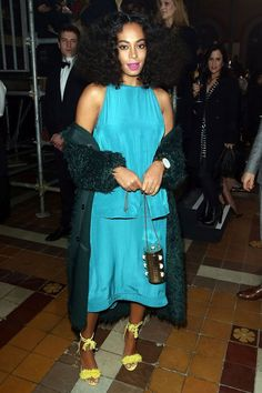 At The End Of Every Rainbow Is Solange Knowles #refinery29  http://www.refinery29.com/2016/01/101954/solange-street-style-pictures#slide-27  Forget jewel tones. Birthstones are in....