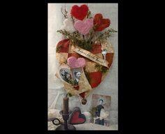 Sweets Heart Valentine PDF Pattern  primitive by Hudsonsholidays