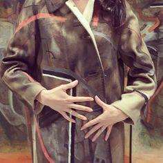 #cashmere #coat #handpainted #artwork www.loladarling.com