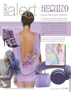 """August Color Alert - #Hechizo - It is a hue evoking hand-craft and reminiscence that can color everything from a garden flower to a fragrance to an oxford cloth shirt. With its roots in """"hand-made"""" products and locally produced trend stories, it offers a new direction in """"made by me."""" It is just bold enough to make a statement, yet subtle enough to rest comfortably on its own merits."""