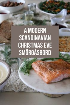 A simple, elegant Christmas Eve Smörgåsbord menu which both honors Swedish tradition and brings some fresh, modern dishes to the table. Swedish Christmas Food, Norwegian Christmas, Christmas Eve Dinner, Christmas Dishes, Xmas Food, Christmas Cooking, Scandinavian Christmas, Elegant Christmas, Swedish Christmas Traditions