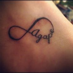 agape infinity tattoo. unconditional, never ending love