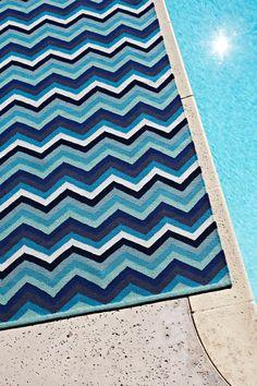 Armadillo&Co Designer Collection 'Chevron Multi-Stripe' rug | see more: http://armadillo-co.com/item-category/designer-collection/