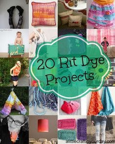 20 Projects with Rit Dye, a compilation from A Little Craft in Your Day