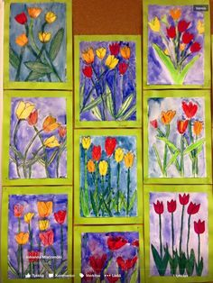 54 Ideas spring art projects for middle school mothers Spring Arts And Crafts, Spring Art Projects, School Art Projects, 2nd Grade Art, Easter Art, Kindergarten Art, Art Lessons Elementary, Arte Popular, Art Lesson Plans