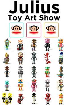 "Paul Frank x Toy Art Galley - Custom ""Juluis"" figures"