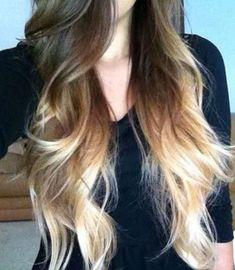 Sexy Brunette Blonde Ombre Hair