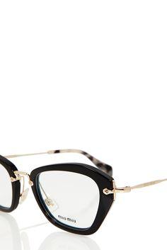 Noir Optical Glasses | MIU MIU | BLACK