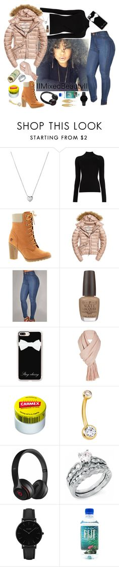 """""""Untitled #348"""" by iimixedbeautyii ❤ liked on Polyvore featuring Links of London, Misha Nonoo, Timberland, Fuji, OPI, Casetify, Free People, Carmex, Beats by Dr. Dre and CLUSE"""