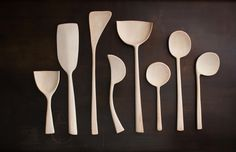 Master wood-carver Josh Vogel of Blackcreek Mercantile & Trading Co created these one-of-a-kind hand-carved wooden spoons exclusively for March. The shop also carries his bread boards. | Dwell