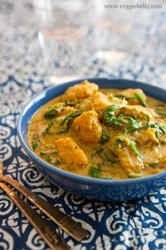 Pumpkin spinach curry
