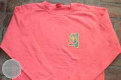 Lilly Pulitzer State Monogram Comfort Colors Sweatshirt by CoastCouture, $38.00
