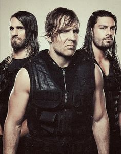 Dean Ambrose, Seth Rollins, and Roman Reigns❤