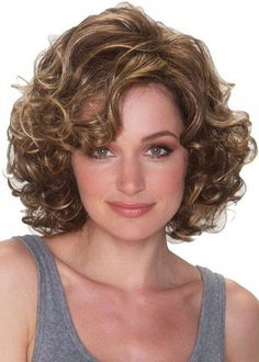 Dressing yourself with our designer short wigs and make you look like stylish and fashion. Short wigs online shopping is your best choice. These short wigs are ideal for looking chic and feeling cool. Haircuts For Curly Hair, Long Bob Hairstyles, Short Curly Hair, Short Hair Cuts, Easy Hairstyles, Curly Hair Styles, Curly Bangs, Bangs Hairstyle, Layered Hairstyle