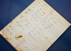 Emily Dickinson's handwritten coconut cake recipe, Emily Dickinson at Poets House by gsz, via Flickr