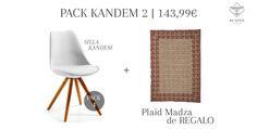 🎅🎁 #Navidad muy ICONS con nuestros PACKS: por la compra de 4 #sillas kandem, un #plaid Madza de REGALO