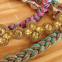 Handcrafted head wraps by Deepa Gurnani.