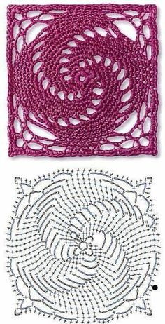 Transcendent Crochet a Solid Granny Square Ideas. Inconceivable Crochet a Solid Granny Square Ideas. Motifs Granny Square, Crochet Motifs, Granny Square Crochet Pattern, Crochet Flower Patterns, Crochet Diagram, Crochet Stitches Patterns, Crochet Chart, Crochet Squares, Thread Crochet