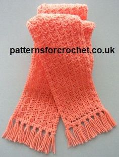 Free crochet pattern tasselled scarf usa