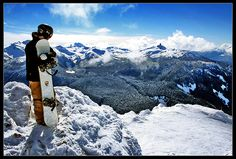 Whistler Blackcomb, Brittish Colombia, Canada. 1600m vertical drop, largest of any ski resort in N. America.